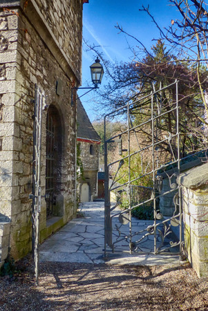 Castle road and gate in Stolberg, Rhineland