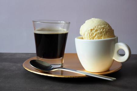 Vanilla ice cream and espresso