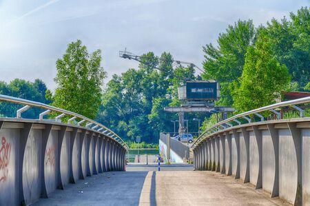 Bridge to the binland harbor and beach in Recklinghausen