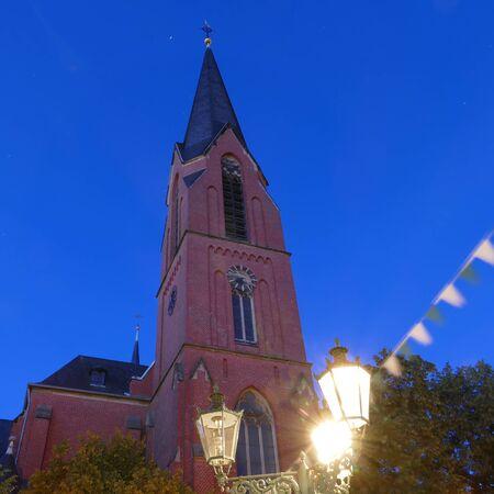 Historical church at the marketplace in Duesseldorf Benrath