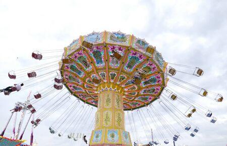 Chairoplane fun ride at the fun fair