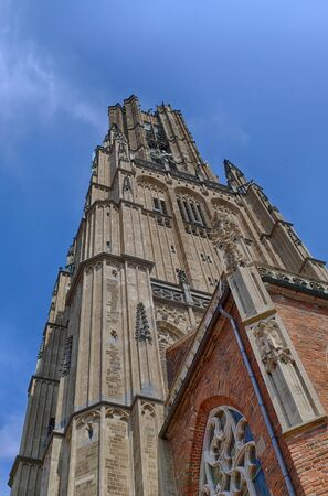 Historical church tower of the great church in Arnhem
