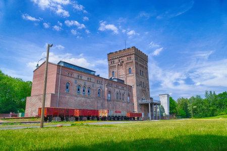 Historical coal mine building in Bochum 에디토리얼
