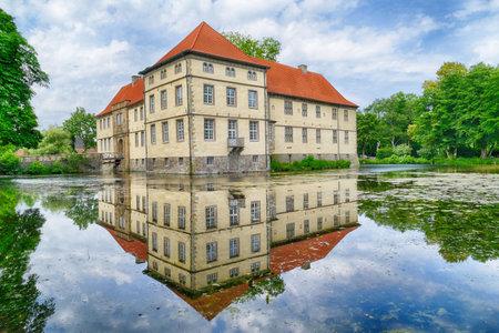 Historical moated castle in Herne