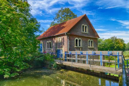 Historical mill and weir near Legden in Germany