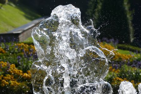 Splashing water of a fountain