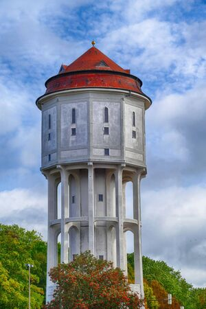 Historical water tower in Emden in East Frisia