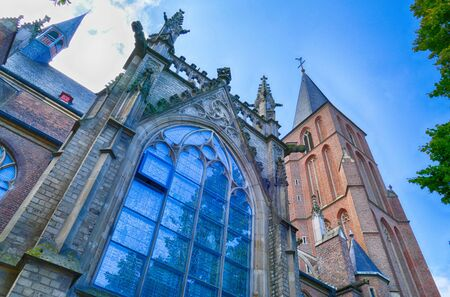 Church window and facade in Kleve