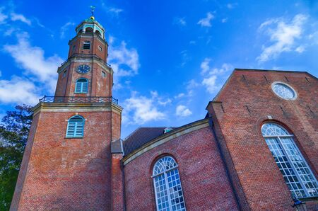 Church and church tower in Leer in East Frisia