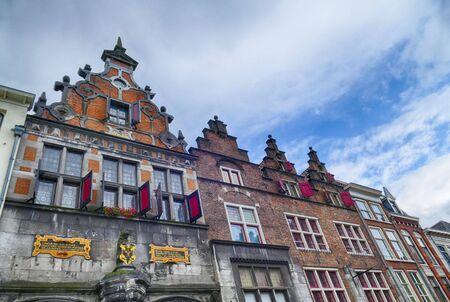 Old facades in the historical center of Nijmegen