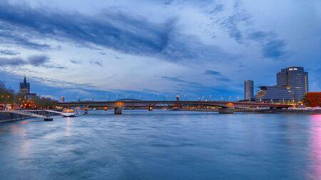 Bridges across the river Rhine in Cologne