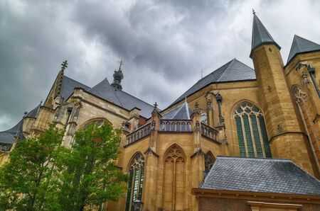 Medieval cathedral in the historical center of Nijmegen