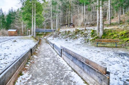 Historical bobsled run near Garmisch-Partenkirchen Standard-Bild - 136672811
