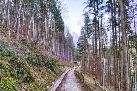 Historical winter sports venue in Garmisch-Partenkirchen Standard-Bild - 136672832