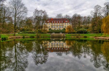 Historical bath and public park in Muelheim Raffelberg