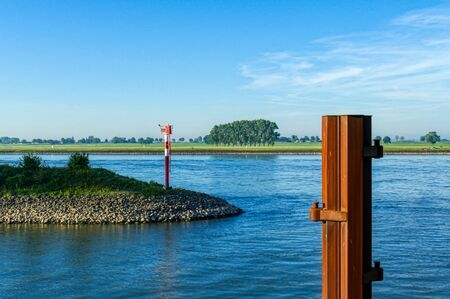 View across the Rhine at the Rhine harbor in Emmerich