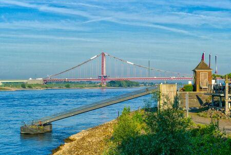 Rhine bridge and promenade in Emmerich