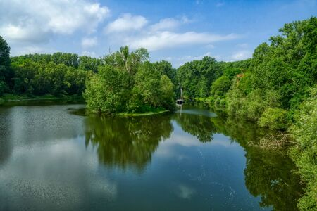 Diescholl lake in the Sieg river estuary near Bergheim