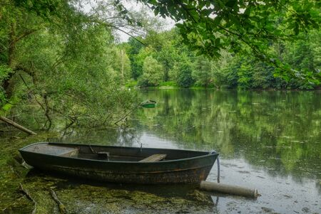 Supreme Fahr lake in the river estuary near Bergheim