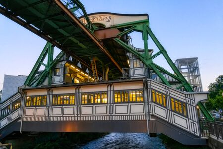 Historical overhead tram station in Wuppertal