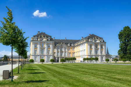 Castle park and baroque castle in Bruehl