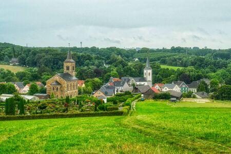 View across Duessel village near Wuelfrath Stok Fotoğraf - 150561493