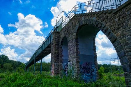 Pedestrian bridge at the Eller forest near Duesseldorf
