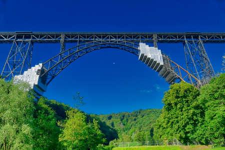 Historical bridge across the Wupper near Solingen Stok Fotoğraf - 151355927