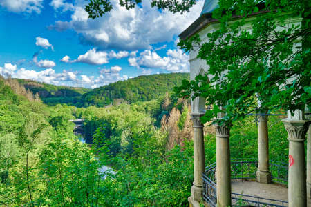 Historical vantage point overlooking the Wupper near Solingen
