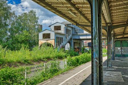 Derelict train station in a public park in Solingen