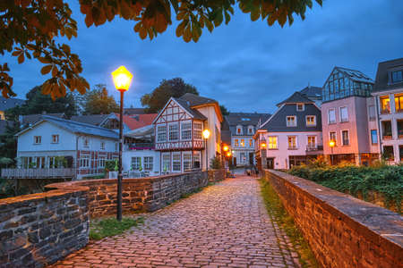 Bridge to the historical center of Essen Kettwig in Germany Stok Fotoğraf