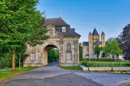 Historical gate and monastery in Knechtsteden in Germany