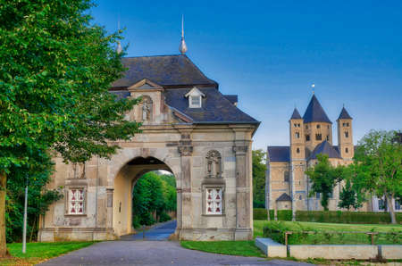 Historical monastery and gate in Knechtsteden in Germany