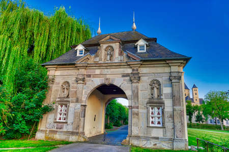 Historical gate in Knechtsteden in Germany Stok Fotoğraf - 152052854