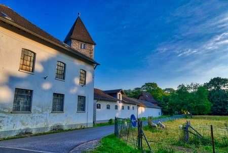 Old monastery buildings in Knechtsteden in Germany Stok Fotoğraf - 152082871