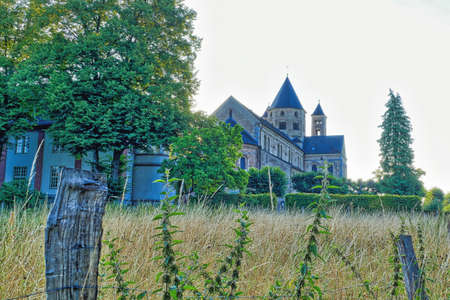 Historical garden and monastery in Knechtsteden in Germany