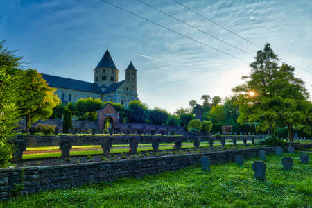 Historical cemetery and monastery in Knechtsteden in Germany Stok Fotoğraf - 152128596
