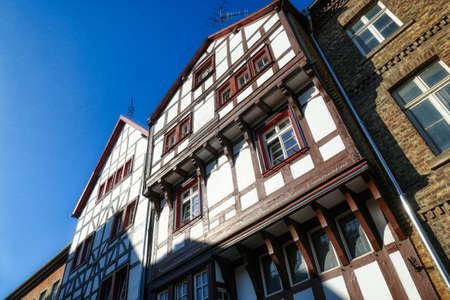 Old half-timber facade in Bad Munstereifel in Germany