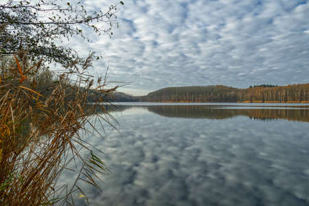 View of the Untersee in the Ville Lake District near Erftstadt in autumn