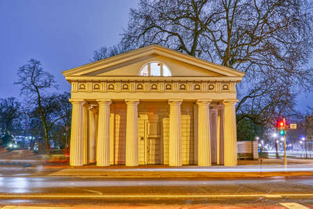 Historical classical building in Dusseldorf