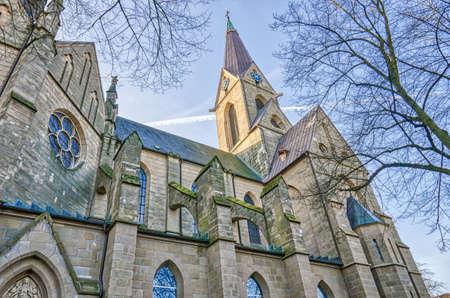 Historical church in Essen Steele Stok Fotoğraf