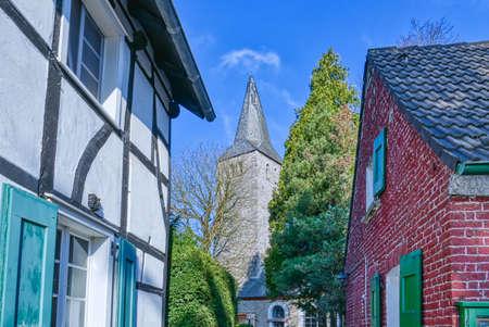 Historical village church in Wuppertal Schoeller