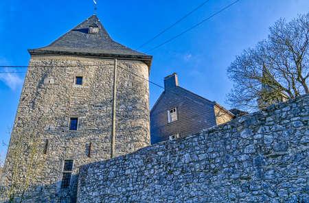 Medieval knight's manor in Wuppertal Scholler Stok Fotoğraf