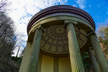 Temple in a historical park near the Tiergarten zoo in Kleve