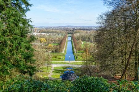 View across a historical park near the Tiergarten zoo in Kleve
