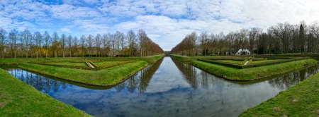 Historical forest park near the Tiergarten zoo in Kleve