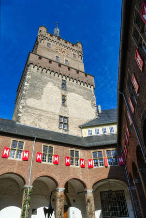 Tower of a historical castle in Kleve in Germany