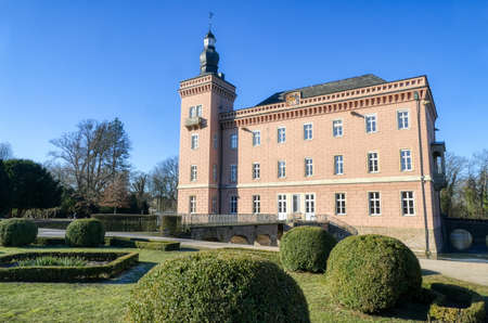 Moated castle in a park in Erftstadt