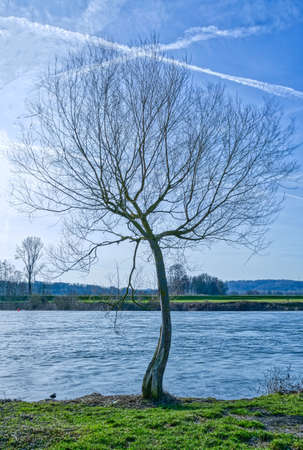 Banks of the river Ruhr in Essen Steele Stok Fotoğraf