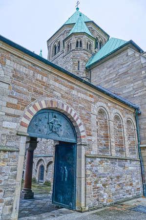 Historical episcopal minster in Essen Stok Fotoğraf